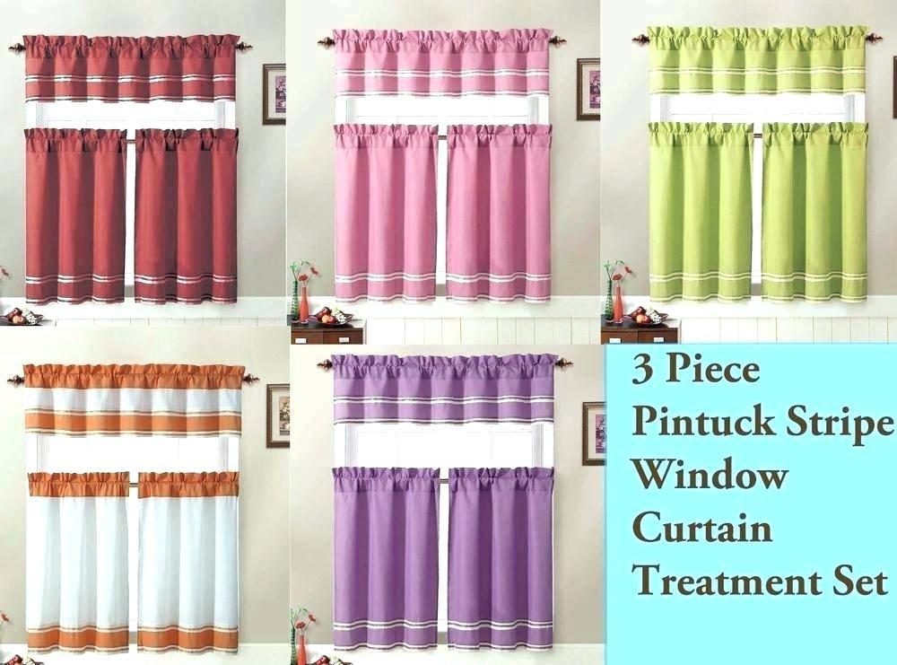 3 Tier Curtains – Visele Mele Inside Pintuck Kitchen Window Tiers (Photo 10 of 25)