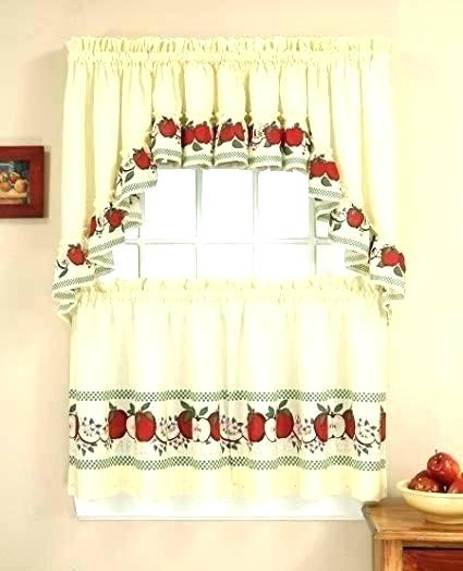 36 Length Curtains In Red Delicious Apple 3 Piece Curtain Tiers (Photo 3 of 25)