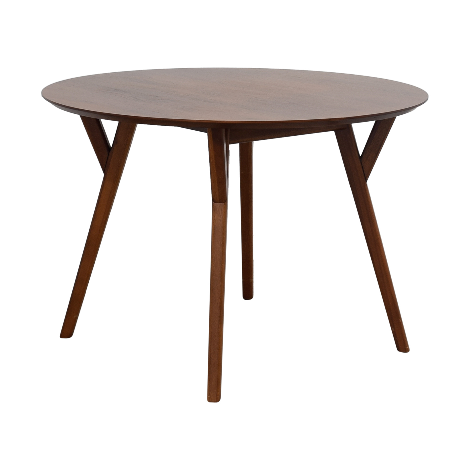 39% Off – West Elm West Elm Mid Century Walnut Round Dining Table / Tables Pertaining To Recent West Dining Tables (Image 2 of 25)