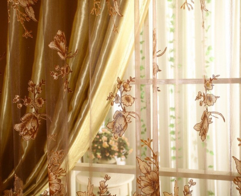 3Pcs Set Curtains Blackout Vintage Lace Curtain Transparent Printing For  Bedroom Window Kitchen Ladder Belt Curtain Within Window Curtains Sets With Colorful Marketplace Vegetable And Sunflower Print (Photo 11 of 25)