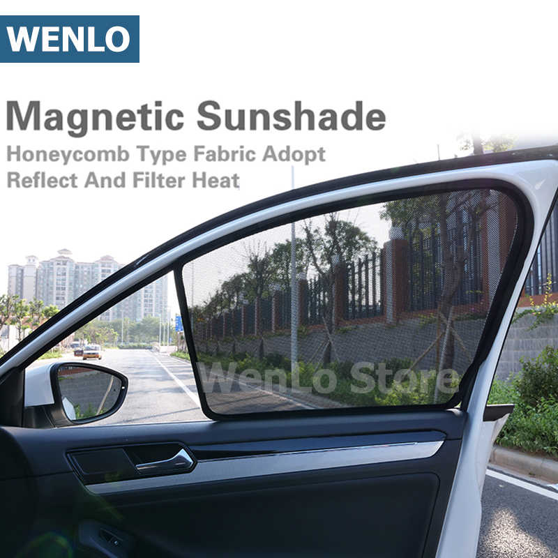 4 Pcs Magnetic Car Side Window Sunshades Curtain Visor With Regard To La Vida Window Curtains (Image 1 of 25)