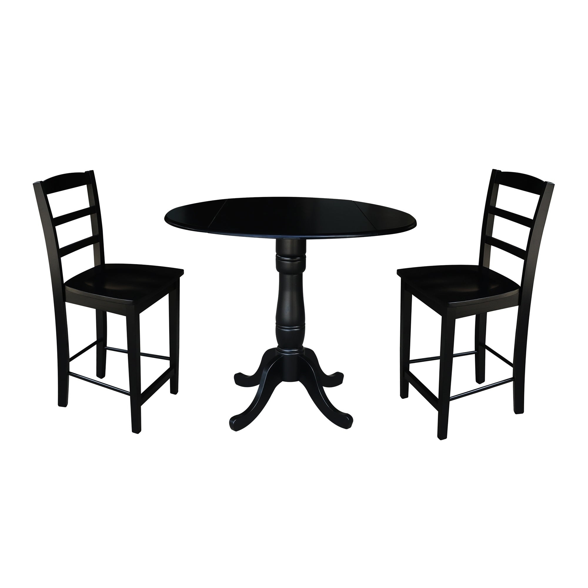 "42"" Round Pedestal Gathering Height Table With 2 Counter Height Stools With Latest Benchwright Counter Height Tables (View 18 of 25)"
