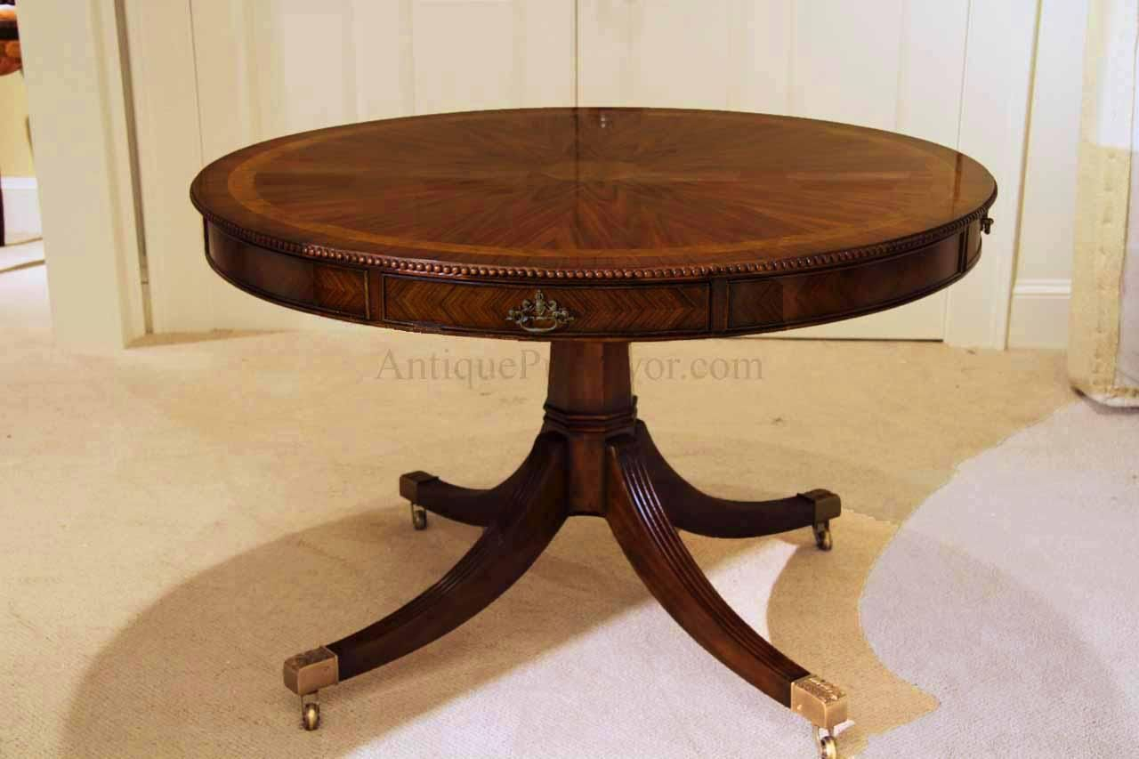 48 Inch Round Formal Duncan Phyfe Rosewood Dining Table With Inside Current Johnson Round Pedestal Dining Tables (View 7 of 25)