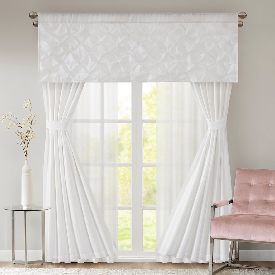 510 Design Tatiana 7 Piece Window Set | Products | Curtains Inside Elegant White Priscilla Lace Kitchen Curtain Pieces (View 24 of 25)