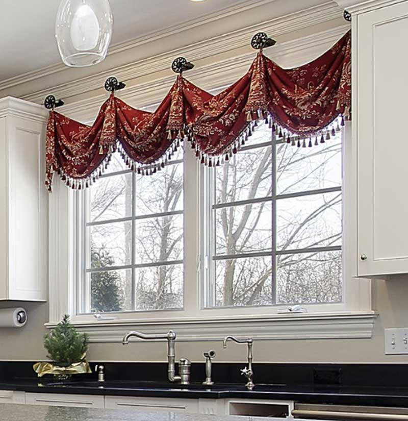 6 Design Rules For Valances Hung On Medallions (Knobs) Intended For Medallion Window Curtain Valances (View 2 of 25)