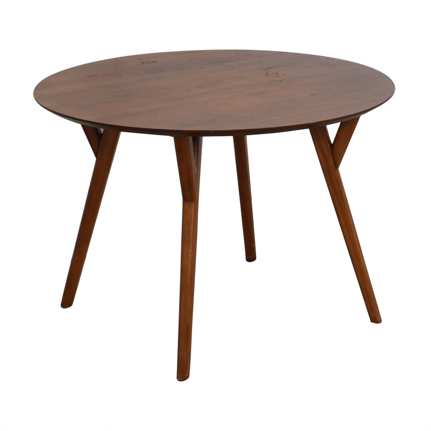 69% Off – West Elm West Elm Round Dining Table / Tables Pertaining To Most Up To Date West Dining Tables (Image 4 of 25)