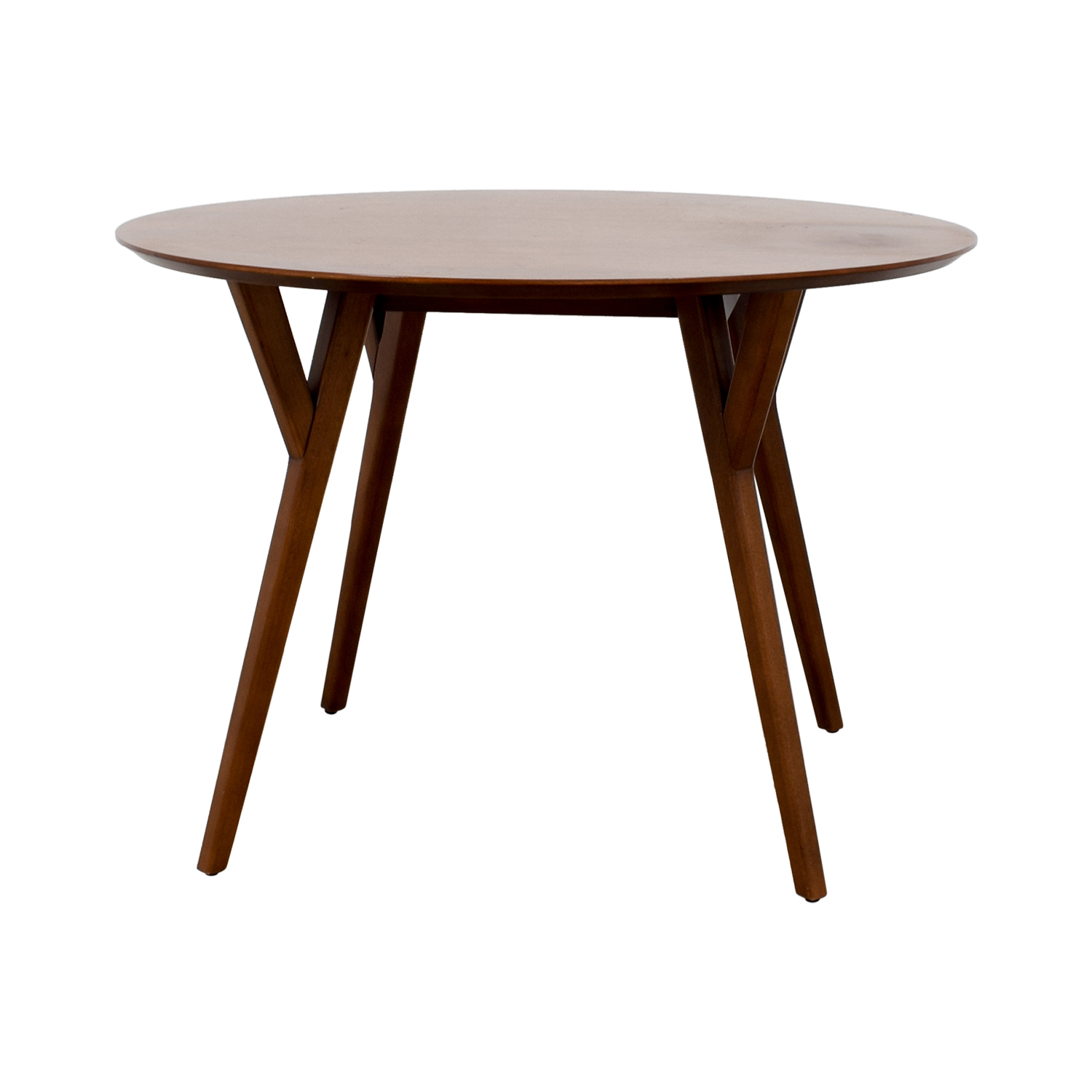 79% Off – West Elm West Elm Round Wood Dining Table / Tables Regarding 2017 West Dining Tables (Image 5 of 25)