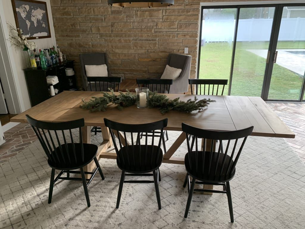 $799 Wood Leona Farmhouse Extension Dining Table In 2019 Inside Most Recent Reed Extending Dining Tables (View 10 of 25)