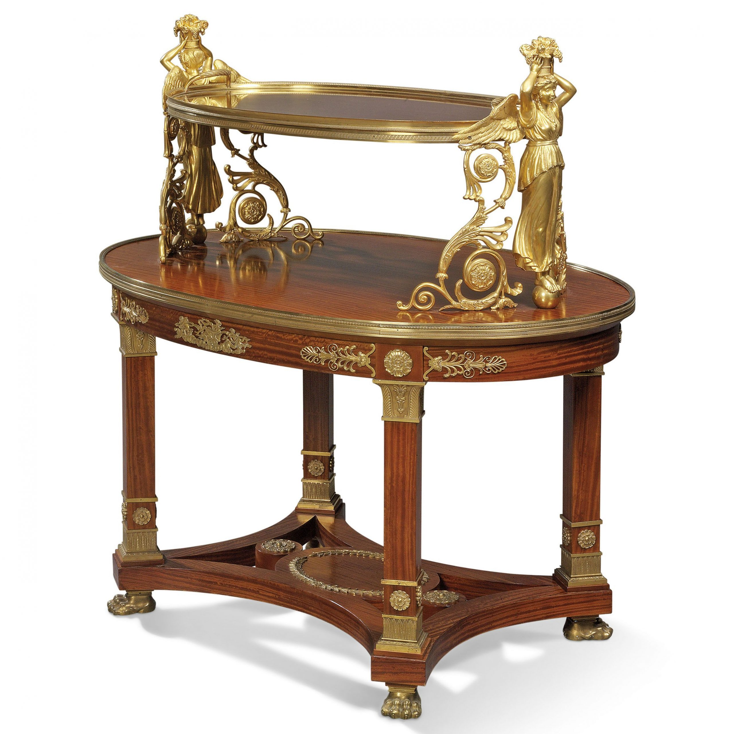 A French Ormolu Mounted Satinwood Tea Table | Of Empire Throughout Recent Christie Round Marble Dining Tables (View 22 of 25)