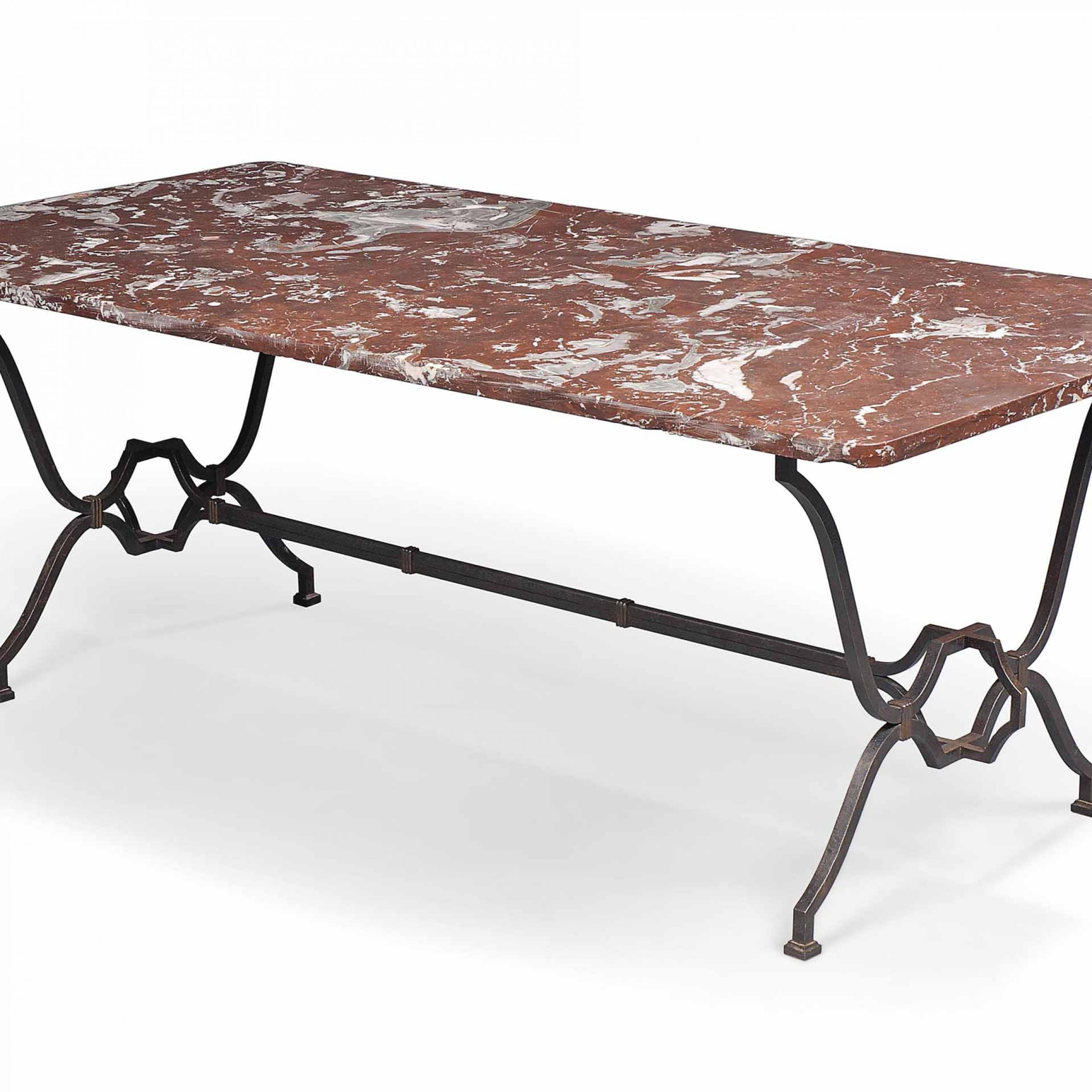 A French Wrought Iron And Marble Dining Table | Mid 20Th In 2017 Christie Round Marble Dining Tables (View 9 of 25)