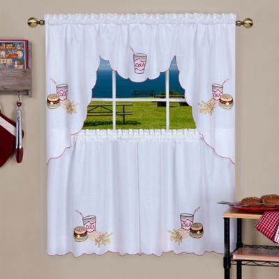 """Achim Fast Food 24"""" Rod Pocket Kitchen Window Tier And Swag With Dakota Window Curtain Tier Pair And Valance Sets (View 21 of 25)"""