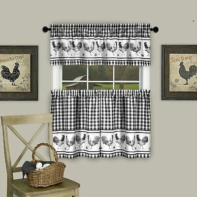 """Achim Home Furnishings Barnyard Window Curtain Tier Pair And Valance Set 58"""" 54006249697 