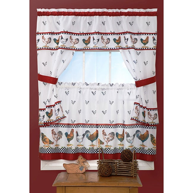 Featured Image of Top Of The Morning Printed Tailored Cottage Curtain Tier Sets