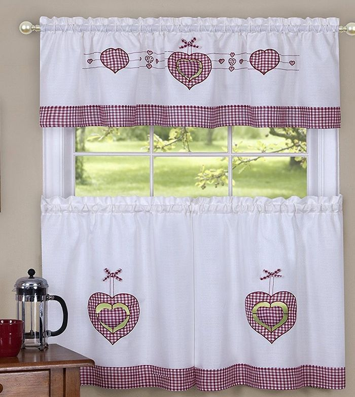 Achim Valance: 20 Listings Inside Delicious Apples Kitchen Curtain Tier And Valance Sets (Image 4 of 25)
