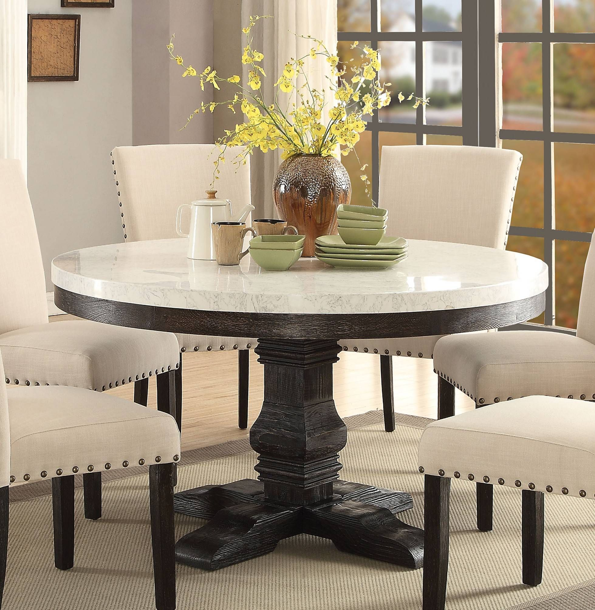 Featured Image of Nolan Round Pedestal Dining Tables