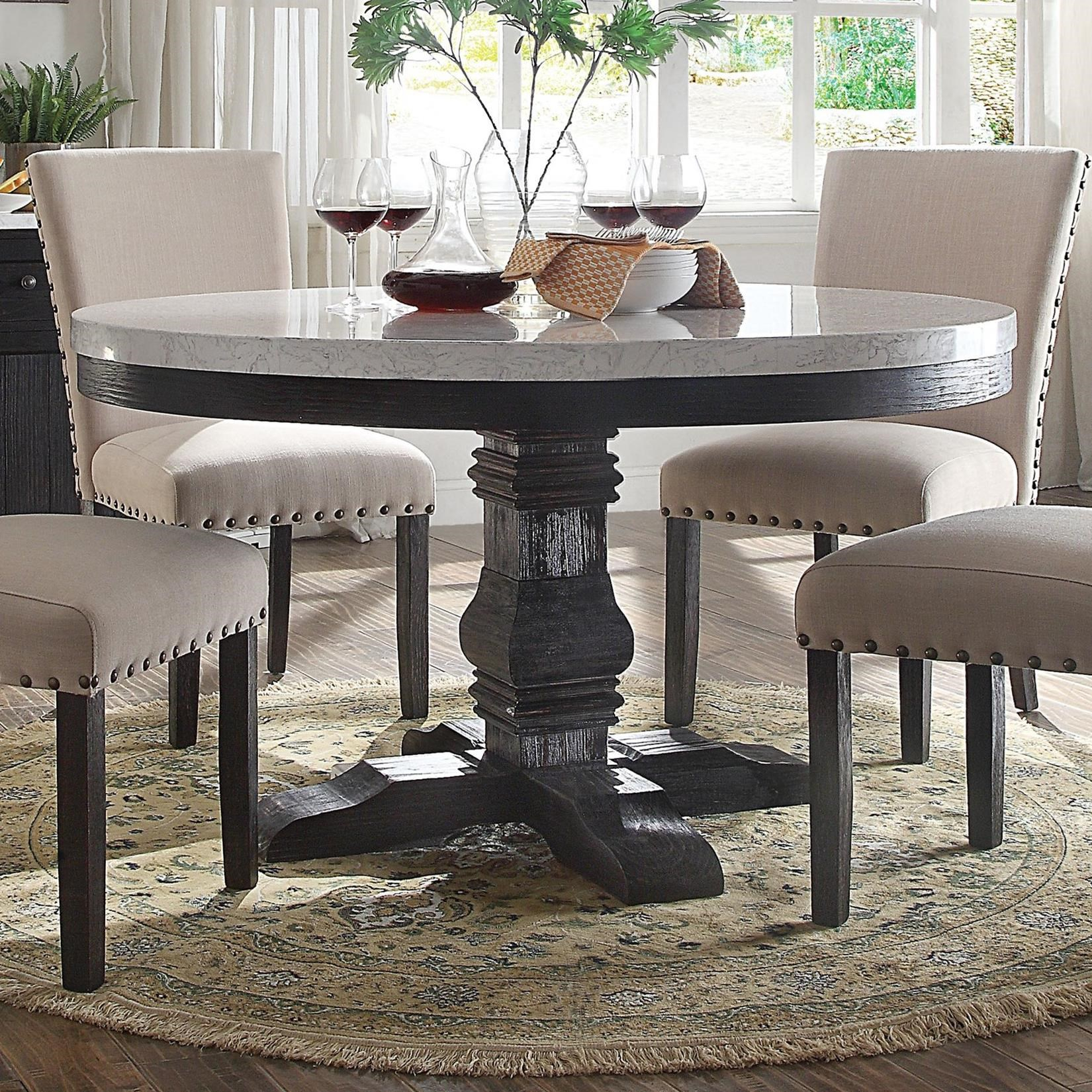Acme Furniture Nolan 72845 Round Pedestal Dining Table With With Regard To Most Recently Released Nolan Round Pedestal Dining Tables (View 5 of 25)