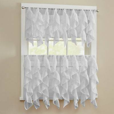 """Adirondack Cotton Kitchen Window Curtains – 12"""" X 60 Pertaining To Cotton Classic Toast Window Pane Pattern And Crotchet Trim Tiers (View 9 of 25)"""