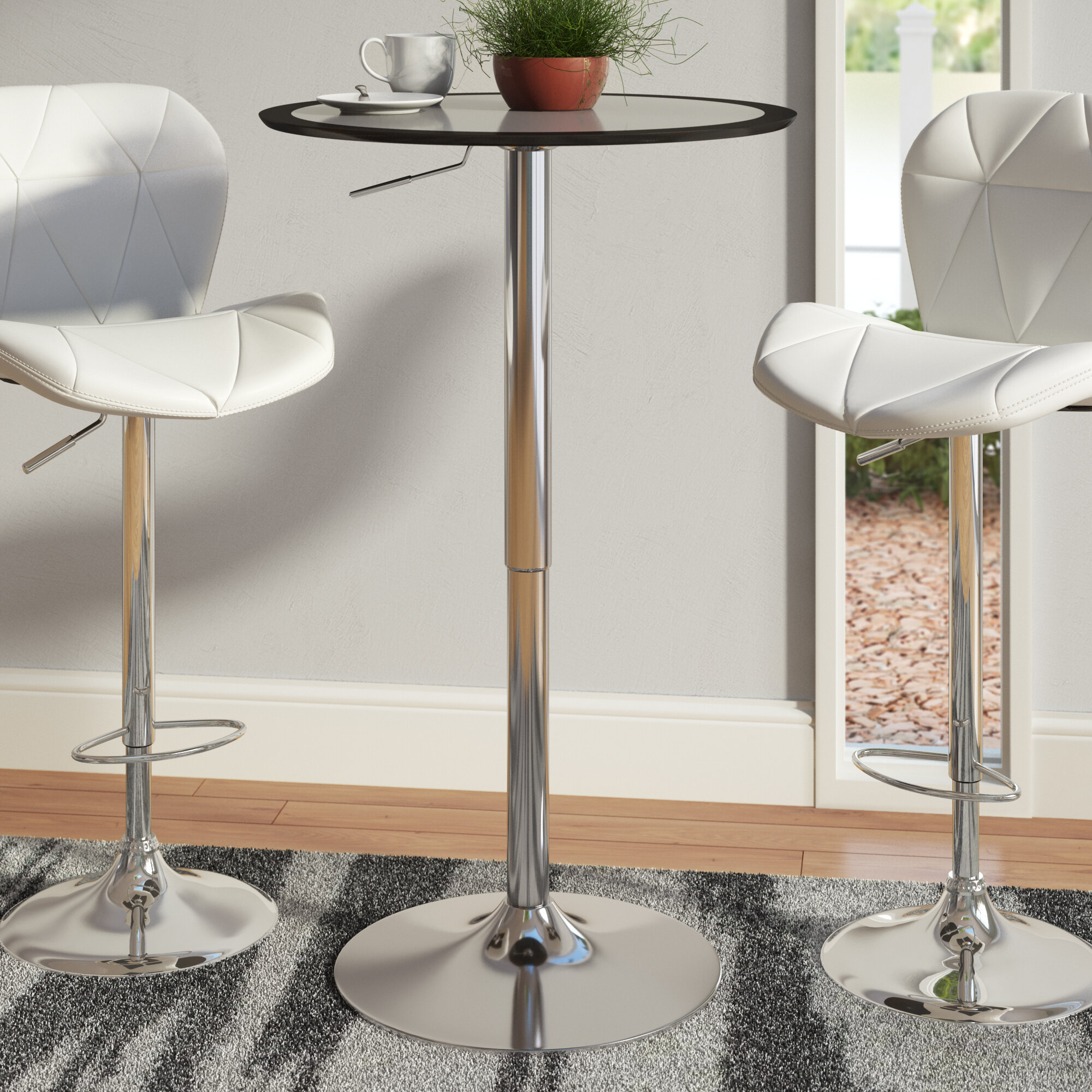 Adjustable Height Pub Table Throughout Most Popular James Adjustables Height Extending Dining Tables (Image 1 of 25)