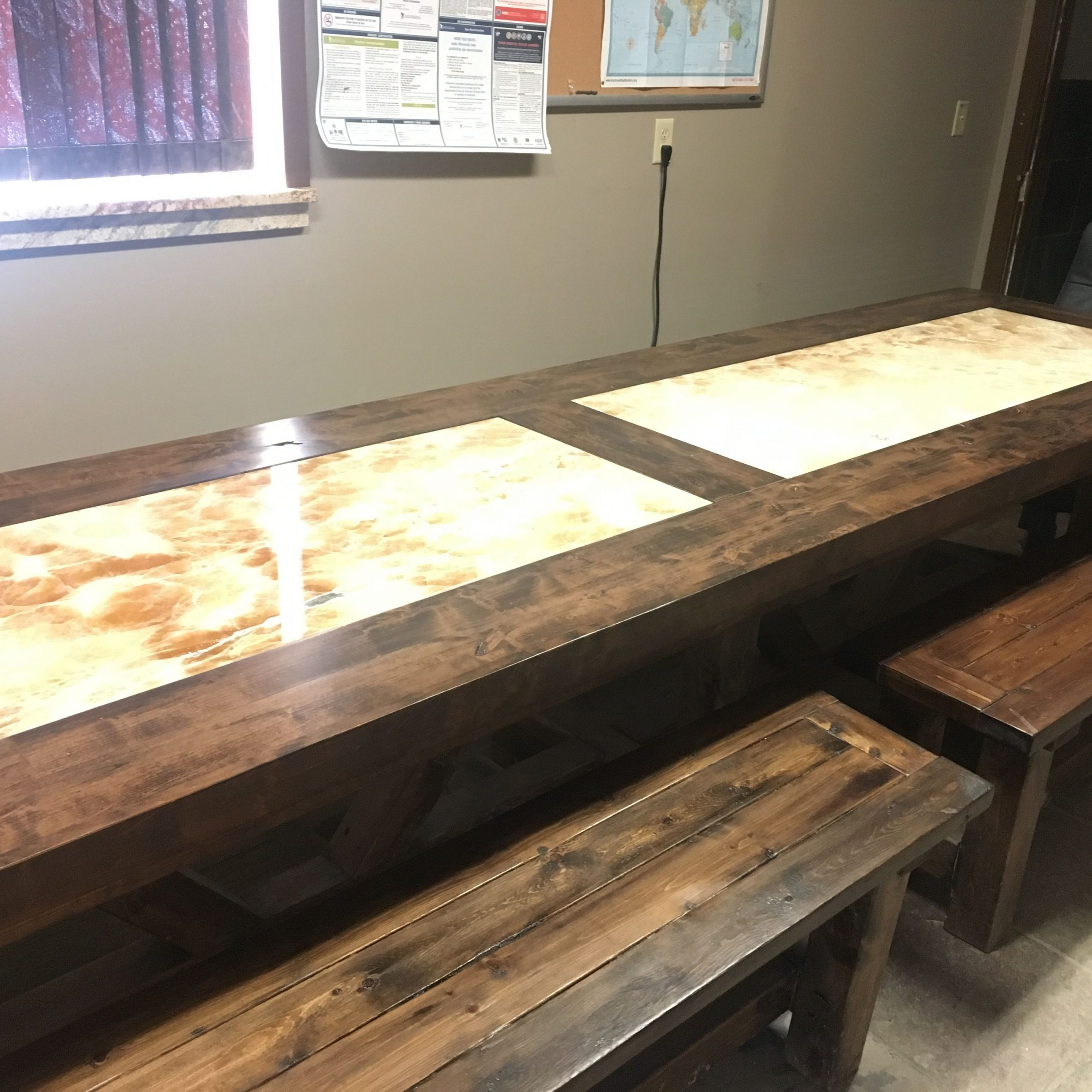 Alder Conference Table With Stone Inlay At Paramount Granite Intended For Most Recently Released Alder Pub Tables (Image 2 of 25)