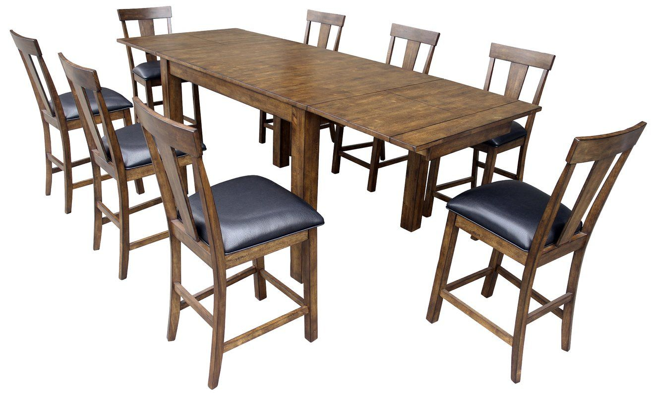 Alder Counter Height Extendable Dining Table | Decor Pertaining To Most Up To Date Alder Pub Tables (Image 3 of 25)