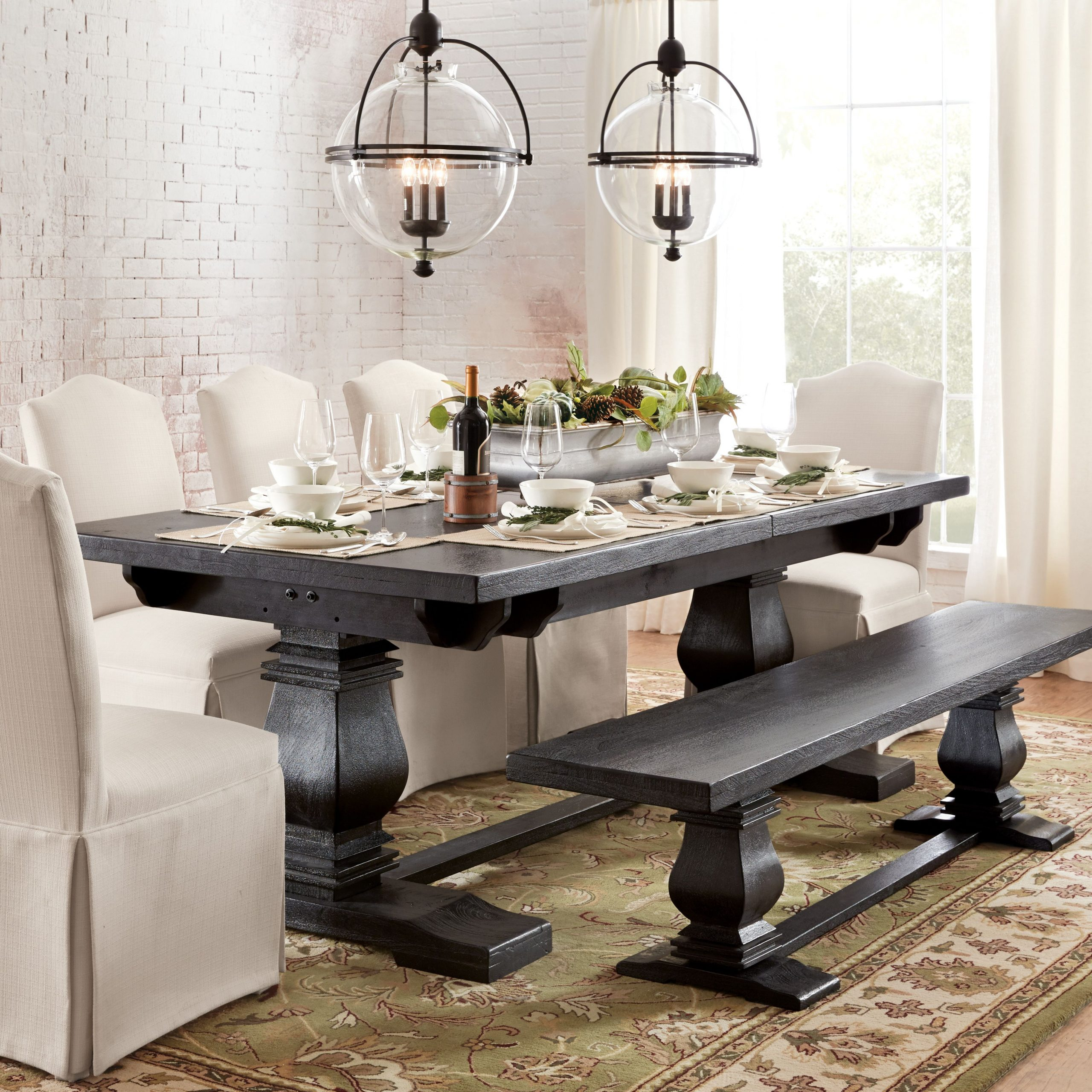 Aldridge Antique Grey Extendable Dining Table | Townhouse With Regard To Most Popular Black Wash Banks Extending Dining Tables (View 5 of 25)
