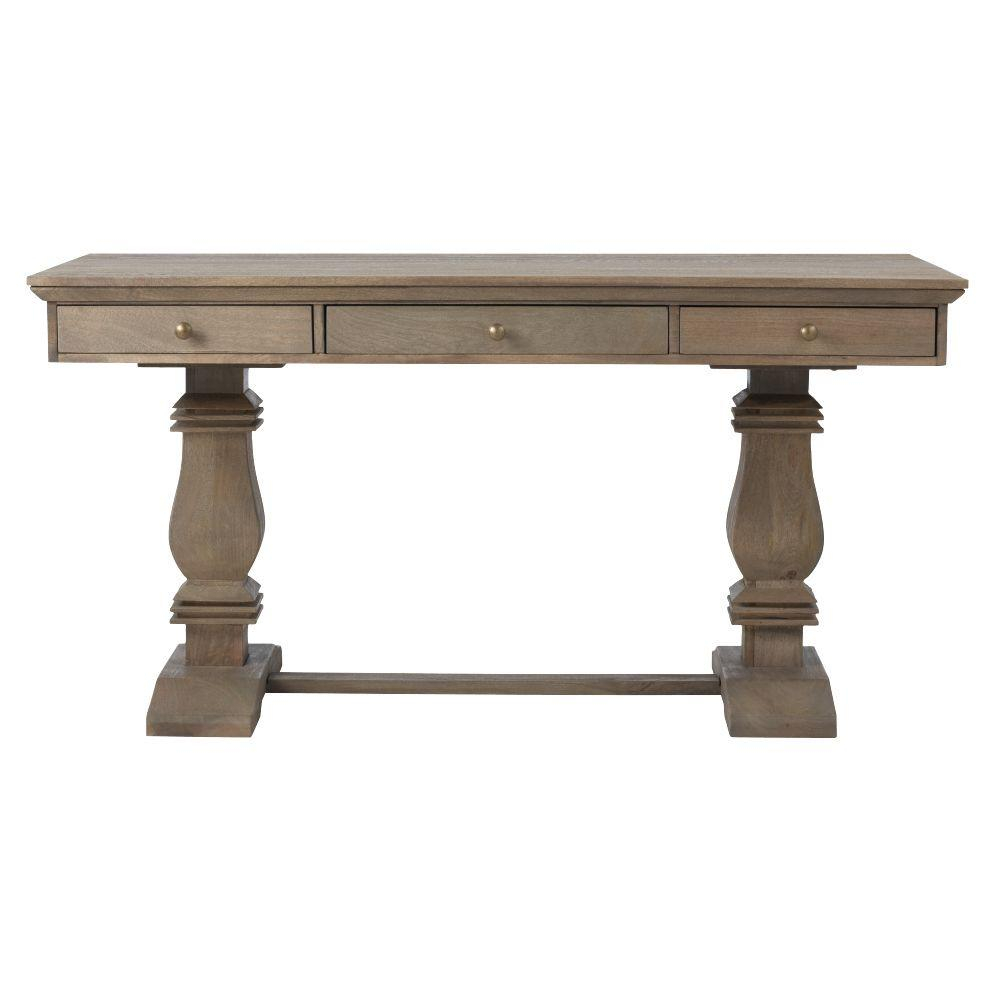 Aldridge Extendable Dining Table Pertaining To 2018 Gray Wash Banks Pedestal Extending Dining Tables (View 19 of 25)