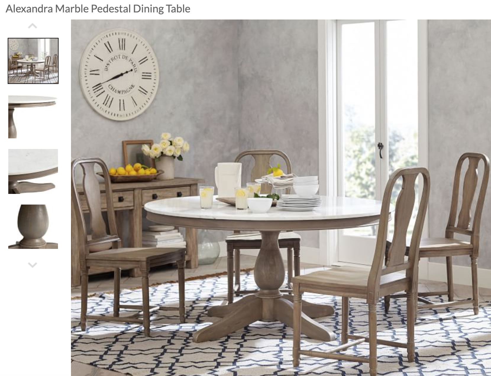 Alexandra Round Marble Pedestal Dining Table | Apt Decor For 2017 Alexandra Round Marble Pedestal Dining Tables (View 2 of 25)
