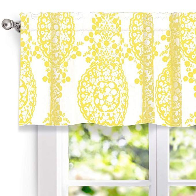 Amazon: Driftaway Samantha Window Curtain Valance Regarding Medallion Window Curtain Valances (View 18 of 25)