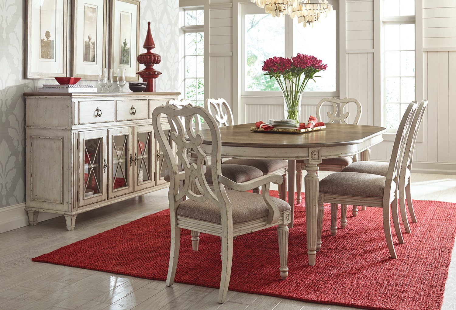 American Drew Furniture Of North Carolina Inside Recent Gray Wash Livingston Extending Dining Tables (View 22 of 25)