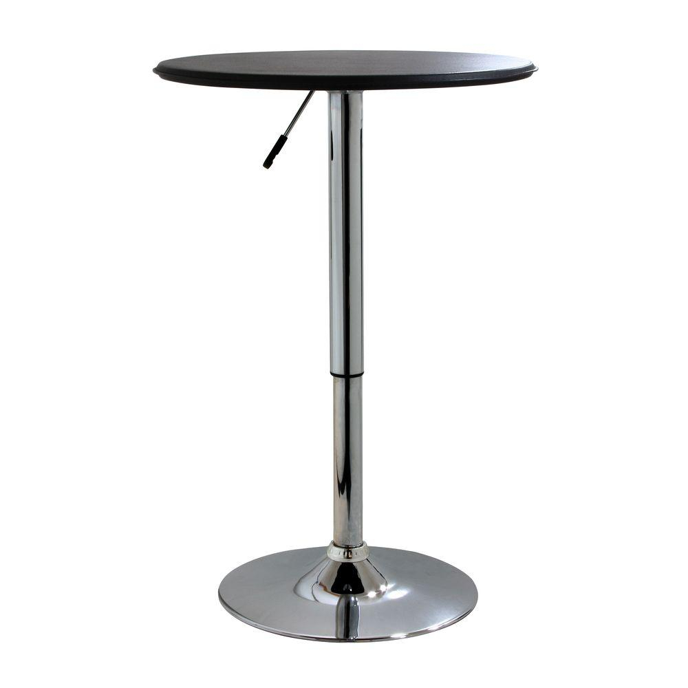 Amerihome Adjustable Height Chrome Swivel Pub/bar Table For Best And Newest Lucy Bar Height Dining Tables (Image 1 of 25)