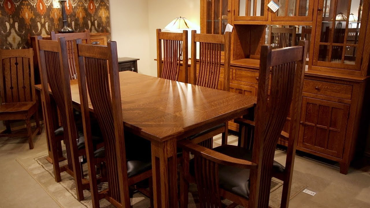 Amish Furniture Gallery | Dining Pertaining To 2018 Shaw Dining Tables, English Brown (View 8 of 25)