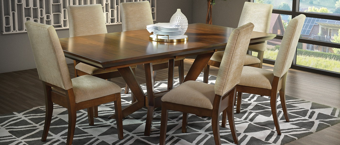 Amish Made Usa Furniture | Handcrafted Hardwood Furniture In 2018 Weathered Gray Owen Pedestal Extending Dining Tables (View 22 of 25)