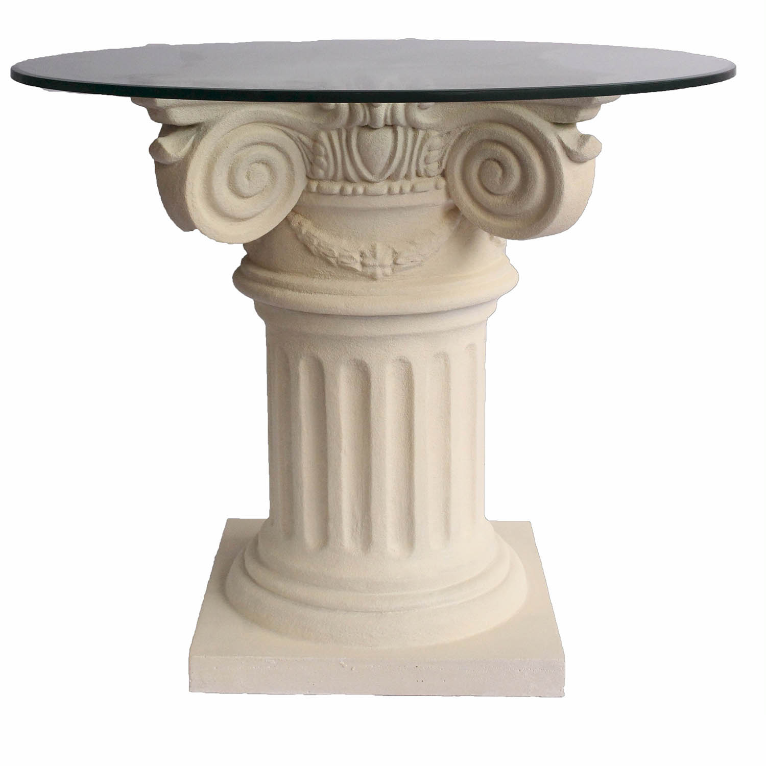 Anderson Teak | Florence Cast Limestone Dining Glass Top Intended For Most Up To Date Aztec Round Pedestal Dining Tables (View 17 of 25)