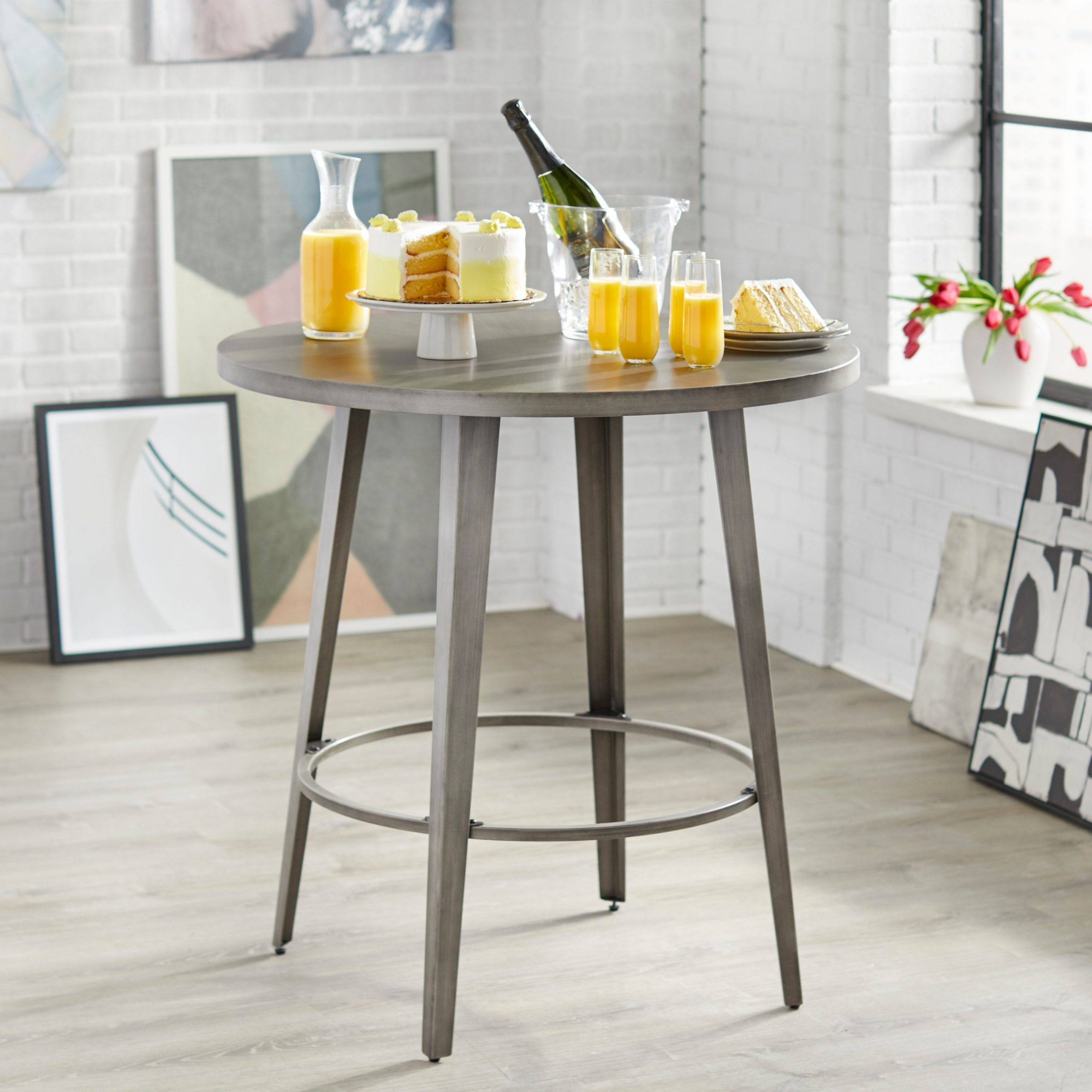 Angelo:home Linden Counter Height Dining Table In Most Current Linden Round Pedestal Dining Tables (View 8 of 25)