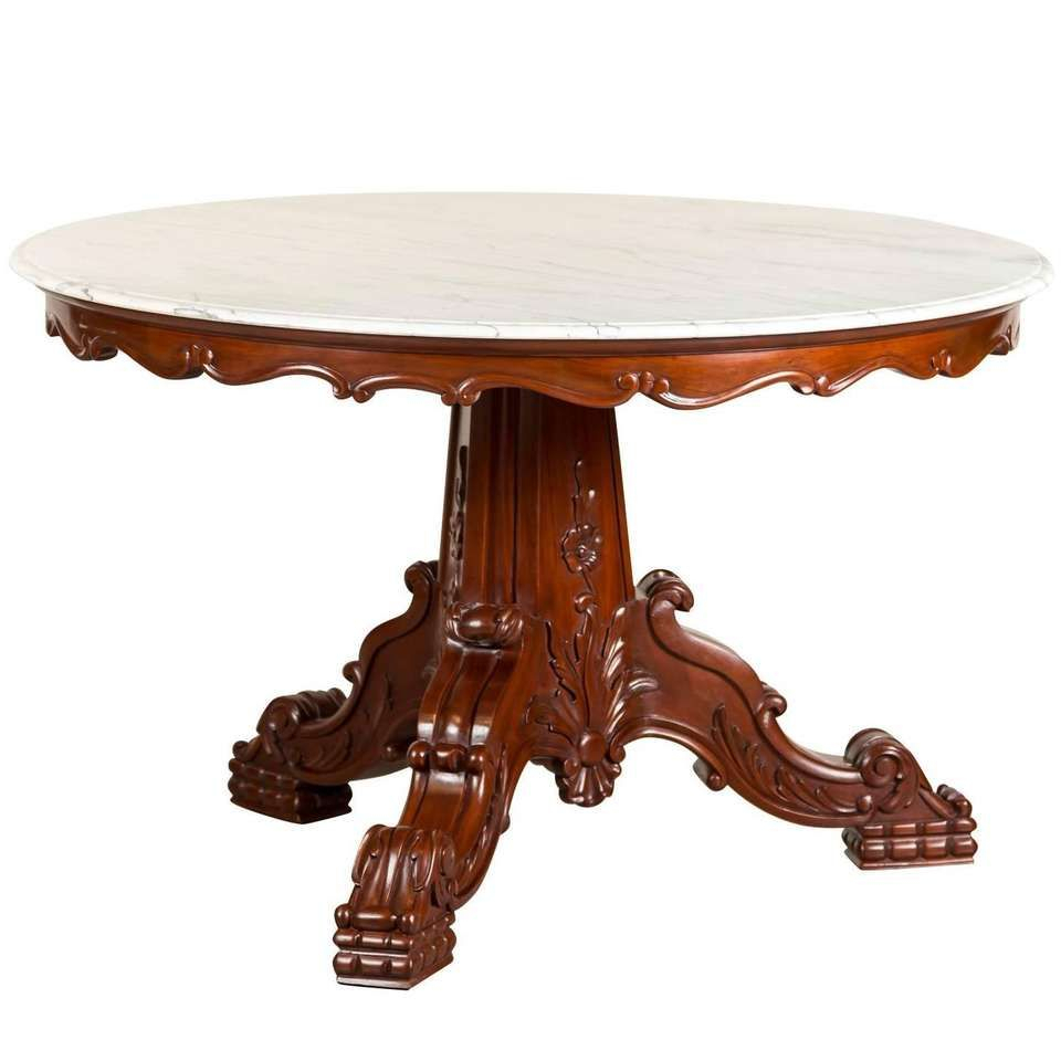 Antique Anglo Indian Or British Colonial Mahogany Round With Most Current Cleary Oval Dining Pedestal Tables (View 7 of 25)