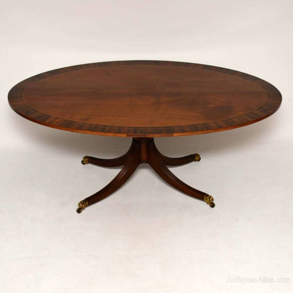 Antique Mahogany Rosewood Oval Dining Table Antiques In Most Up To Date Rustic Mahogany Extending Dining Tables (View 16 of 25)