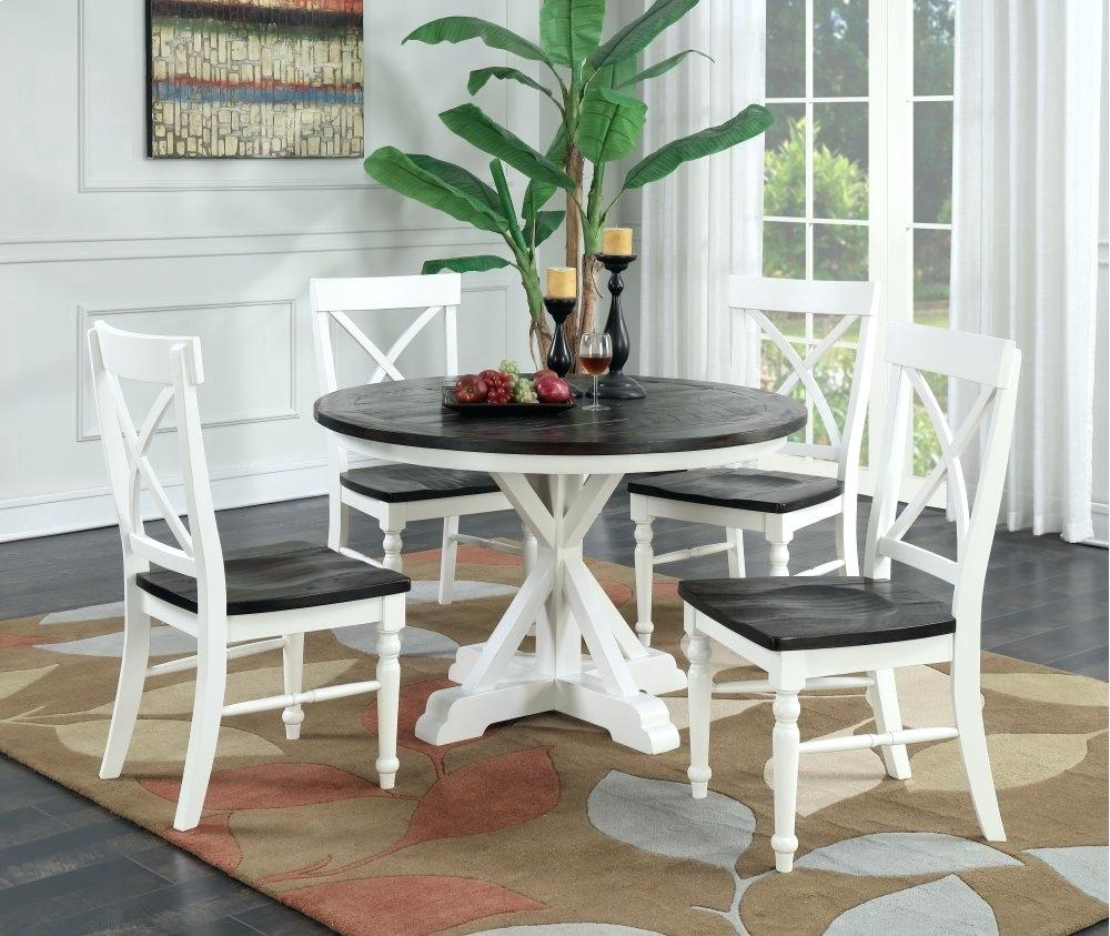 Antique White Round Dining Table – Blogie With Most Popular Weathered Gray Owen Pedestal Extending Dining Tables (View 11 of 25)