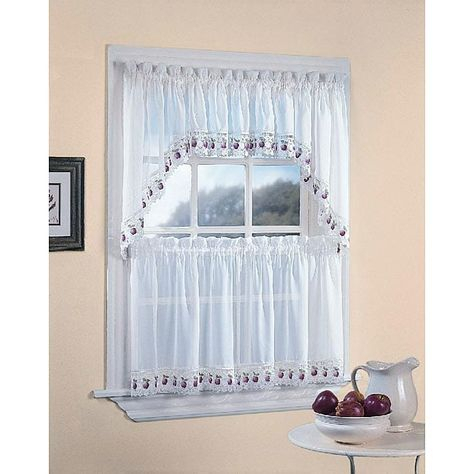 Apple Orchard Kitchen 5 Piece Window Tier And Swag Set (24 For Chocolate 5 Piece Curtain Tier And Swag Sets (View 6 of 25)