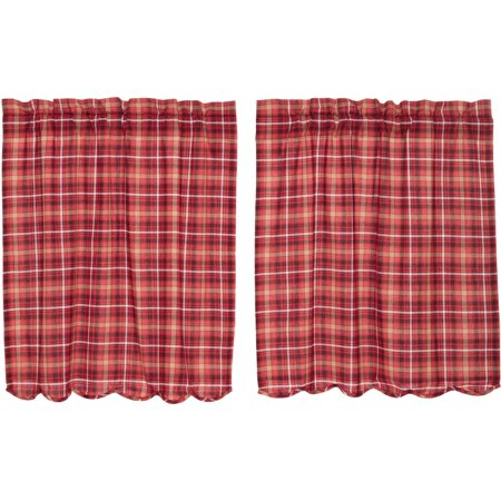 Apple Red Rustic & Lodge Kitchen Curtains Braxton Rod Pocket With Red Rustic Kitchen Curtains (Image 2 of 25)