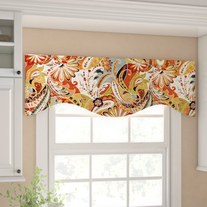 "Areli Paisley 51"" Window Valance Within Floral Pattern Window Valances (View 6 of 25)"