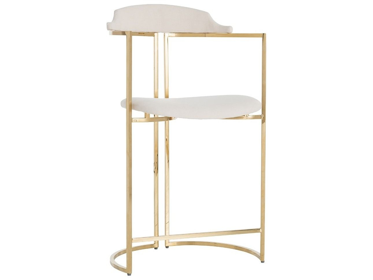 Arteriors Home Zephyr Polished Brass Counter Stool In 2019 With Most Current Hearst Bar Tables (Image 3 of 25)