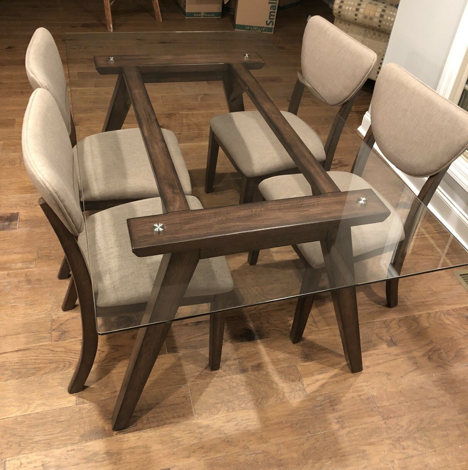 """Ashley Furniture Joshton 66"""" X 38"""" Glass Top Kitchen / Dining Room Table In Current Brooks Dining Tables (View 19 of 25)"""