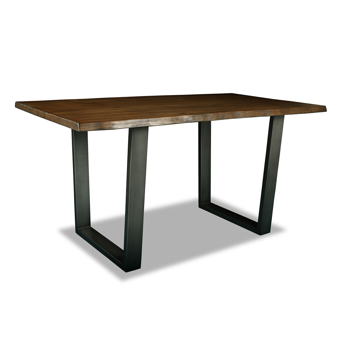 Astoria Live Edge Counter Or Bar Height Table Throughout Best And Newest Alder Pub Tables (Image 5 of 25)