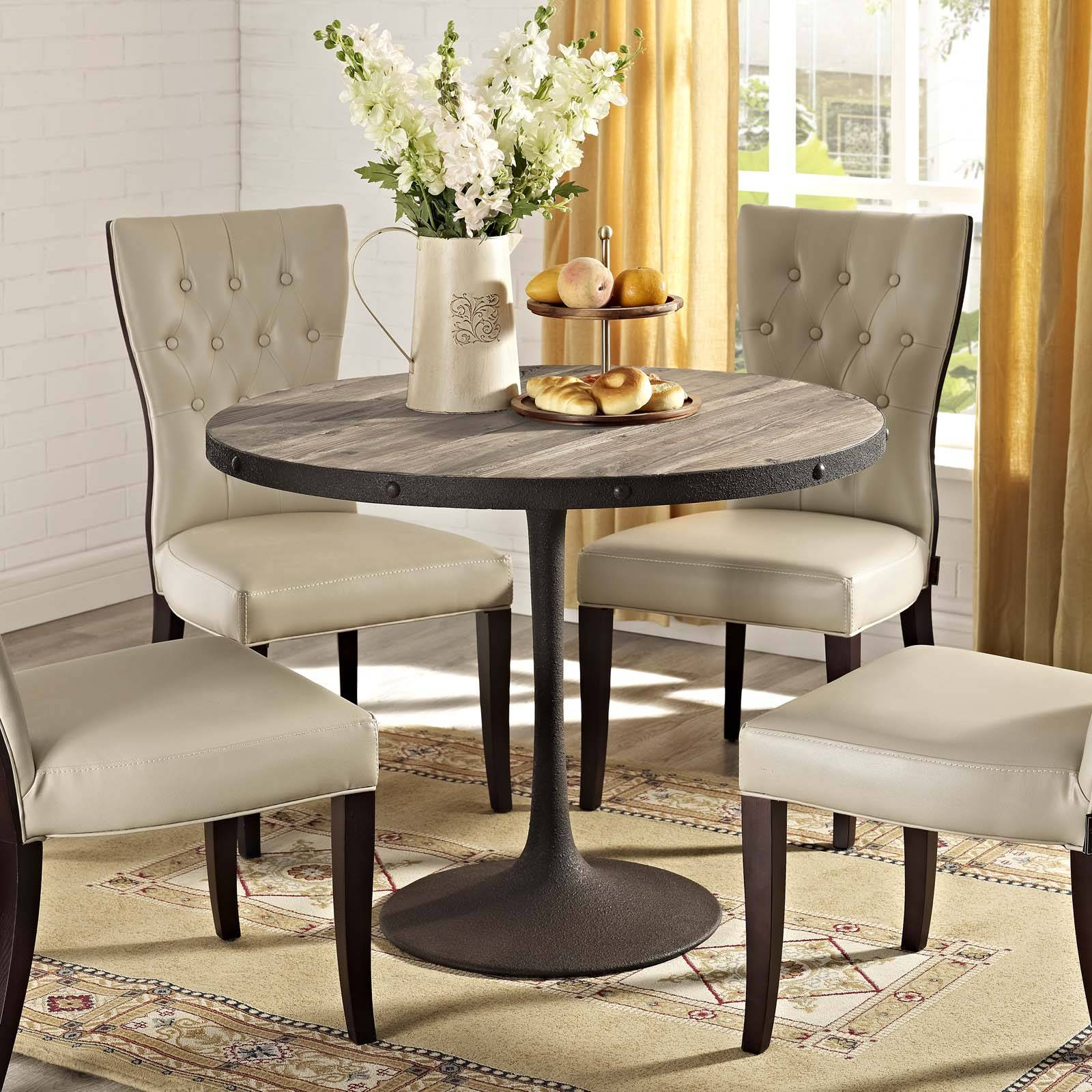 Astounding Top Modern Dining Table Best Farmhouse Tables Within Most Recently Released Chapman Round Marble Dining Tables (View 25 of 25)