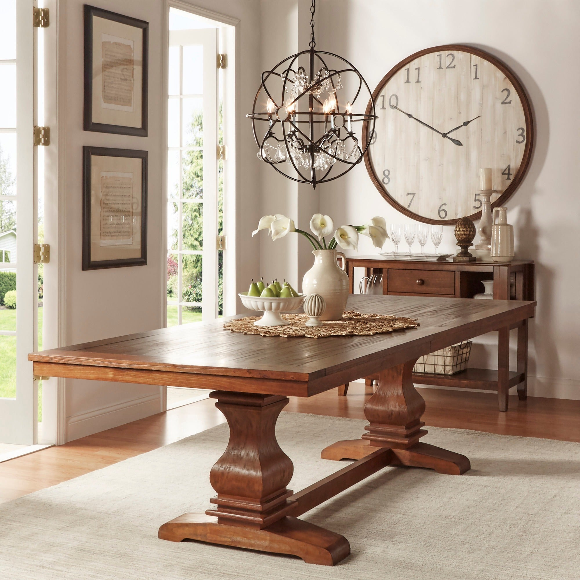 Atelier Burnished Brown Pedestal Extending Dining Tableinspire Q Classic Pertaining To Most Current Alfresco Brown Banks Pedestal Extending Dining Tables (View 15 of 25)