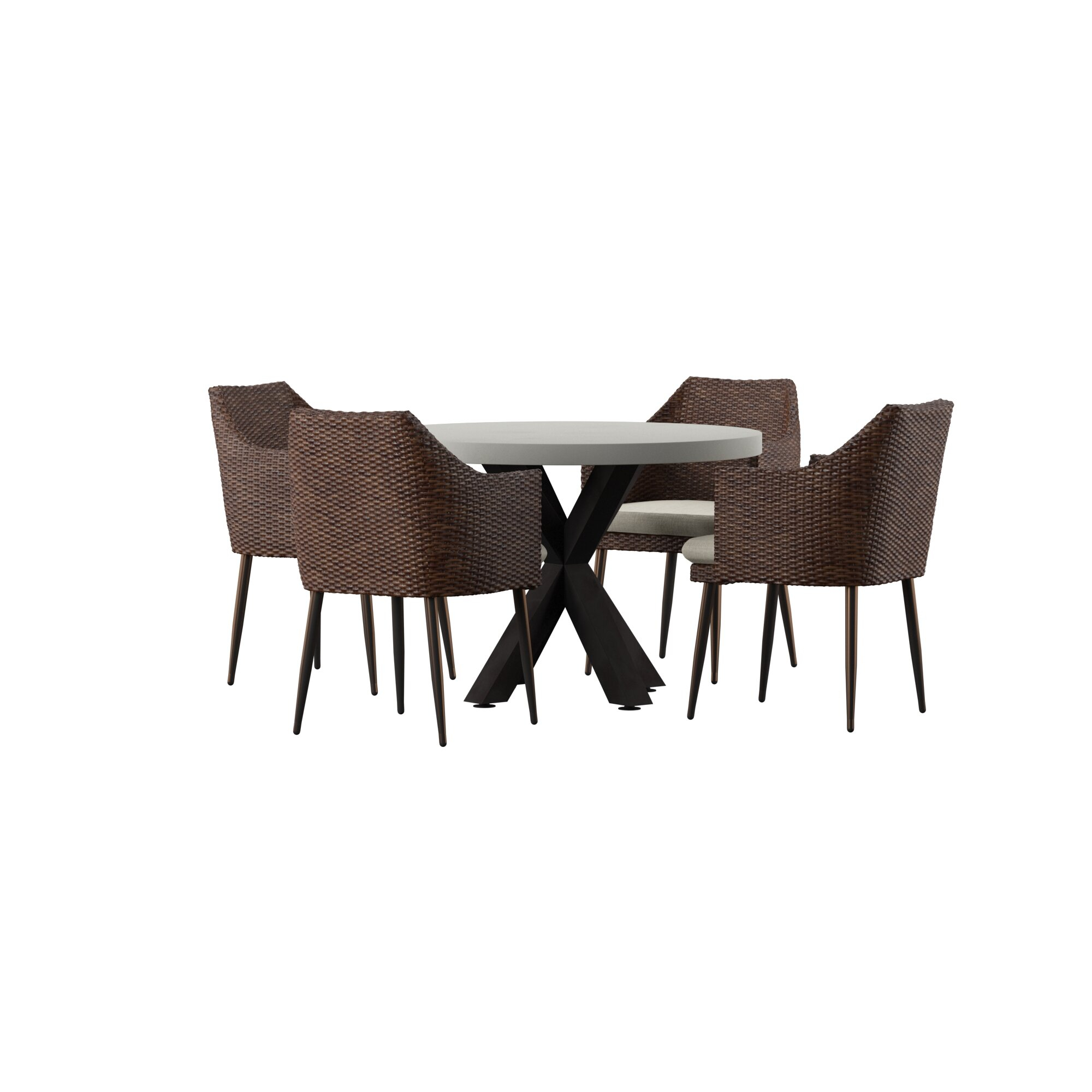 Avery 5 Piece Dining Set With Cushions For Current Avery Rectangular Dining Tables (View 14 of 25)