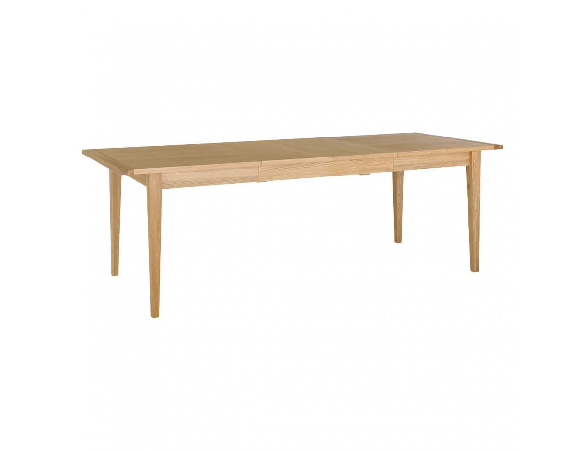 Avery 6 – 10 Seater Oak Extending Table Regarding Most Current Avery Round Dining Tables (View 16 of 25)