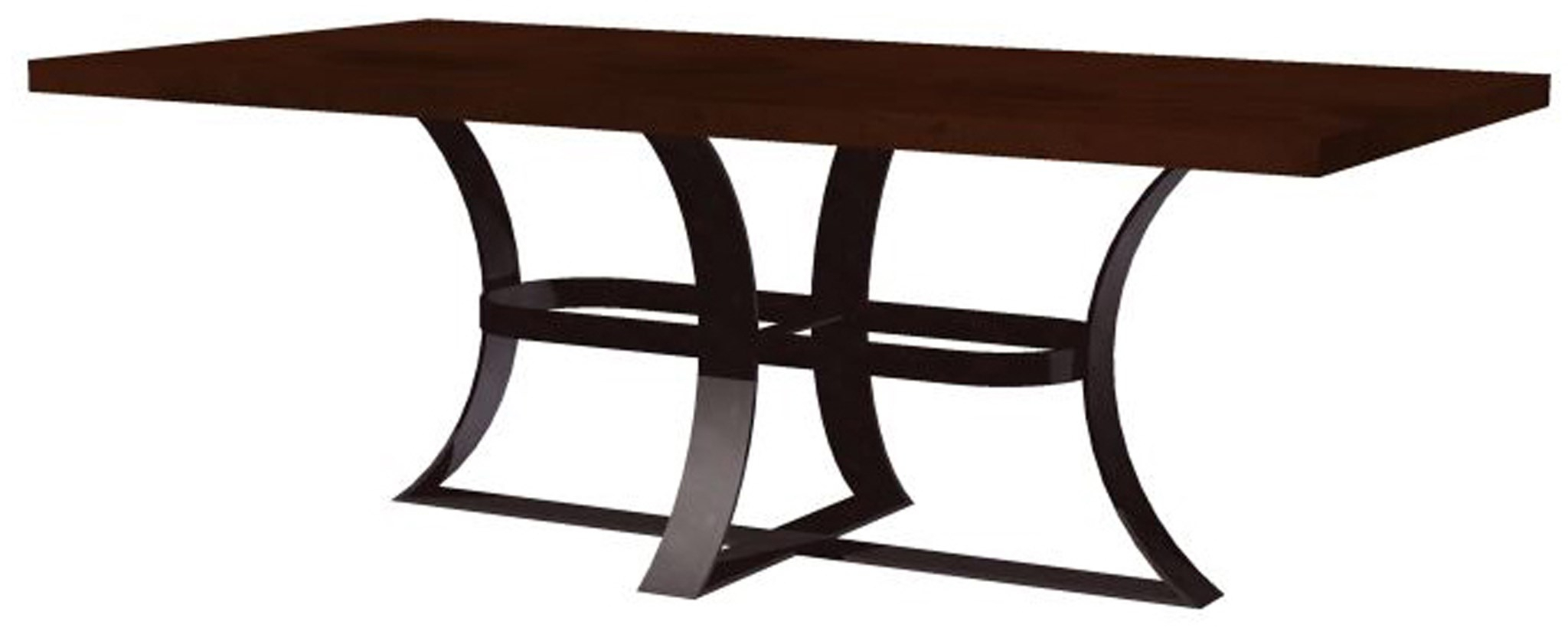 Avery Dining Table With Rectangular Hammered Dark Brown Copper Top Regarding Most Popular Avery Rectangular Dining Tables (View 9 of 25)