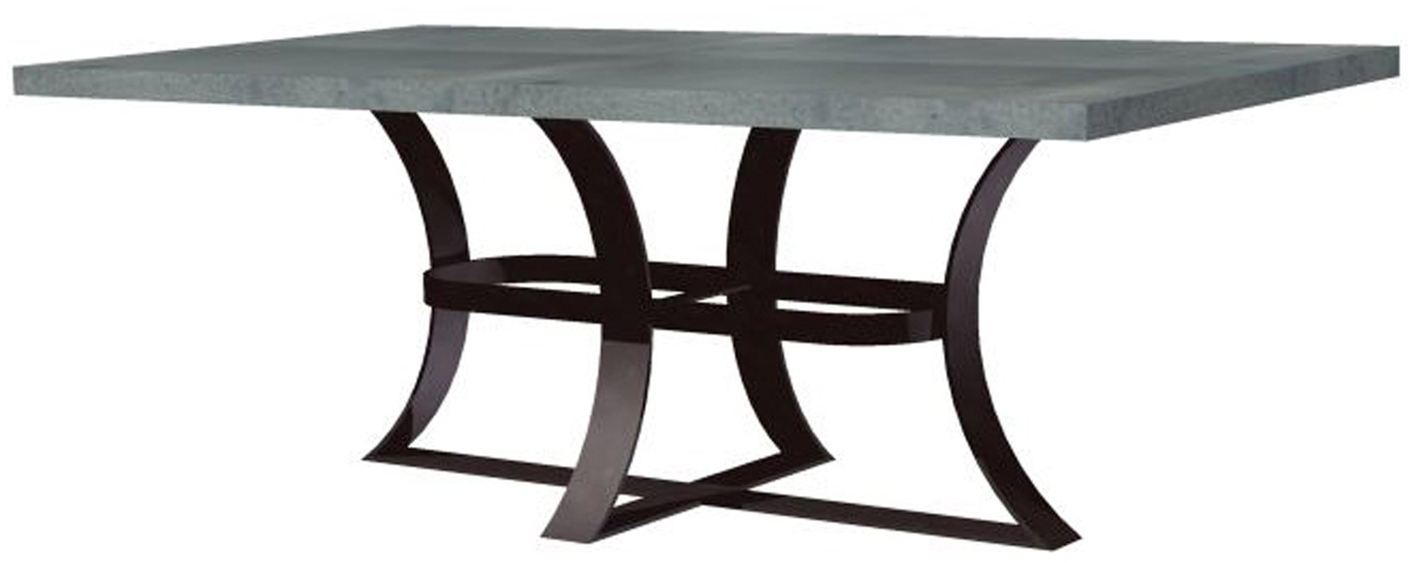 Avery Dining Table With Rectangular Hammered Zinc Top Within 2018 Avery Rectangular Dining Tables (View 8 of 25)