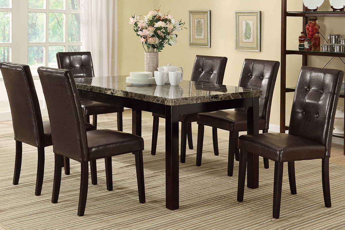Avery Marble Top Dining Table Set With Most Popular Avery Rectangular Dining Tables (View 16 of 25)